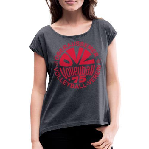 OVV Logo - Frauen T-Shirt mit gerollten Ärmeln