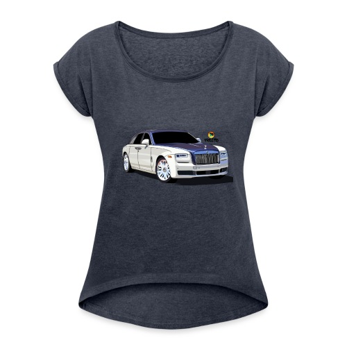 Luxury car - Women's T-Shirt with rolled up sleeves