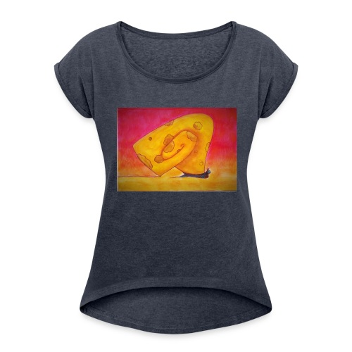'Hope or Not' - Naisten T-paita, jossa rullatut hihat
