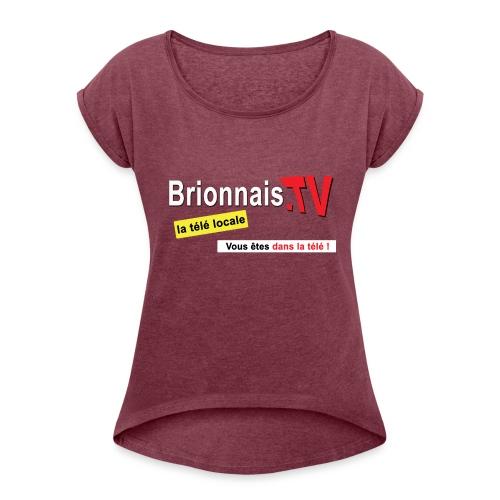 BTV logo shirt dos - T-shirt à manches retroussées Femme