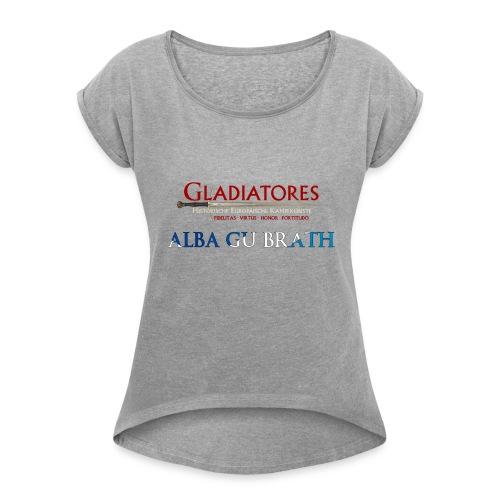 ALBAGUBRATH - Frauen T-Shirt mit gerollten Ärmeln