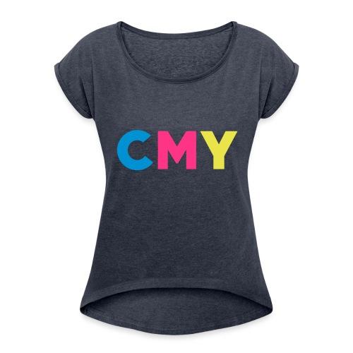 CMYK - Vrouwen T-shirt met opgerolde mouwen