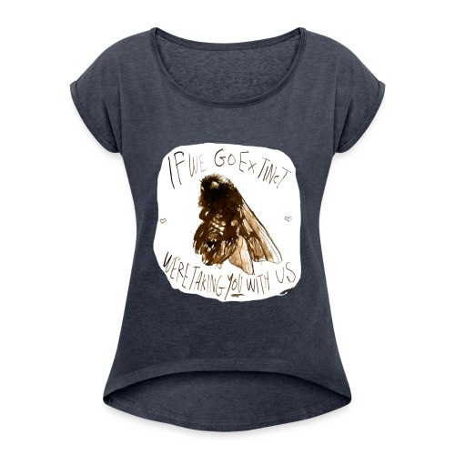 the bee - Women's T-Shirt with rolled up sleeves