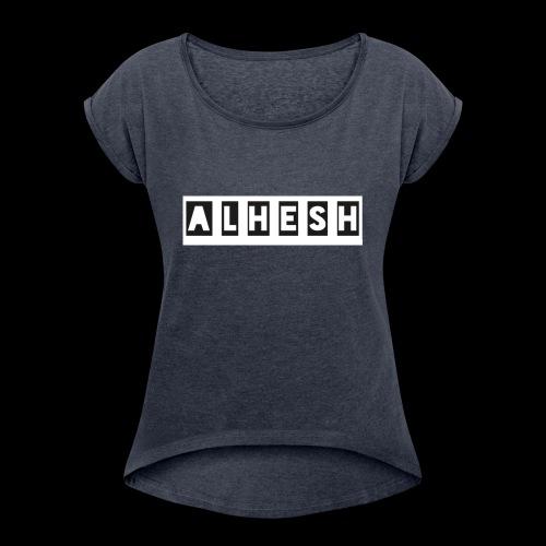 04131CD3 20A7 475D 94E9 CD80DF3D1589 - Frauen T-Shirt mit gerollten Ärmeln