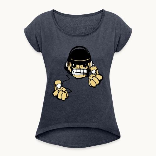 Micky DJ - T-shirt à manches retroussées Femme