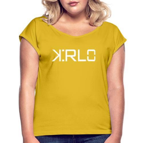 Kirlo Logo Blanco - Camiseta con manga enrollada mujer