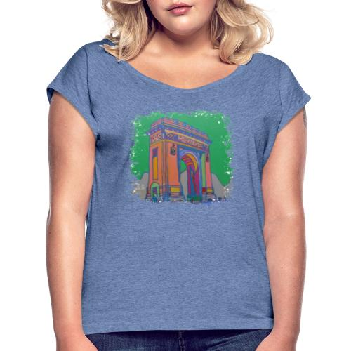 Bukarest - Frauen T-Shirt mit gerollten Ärmeln