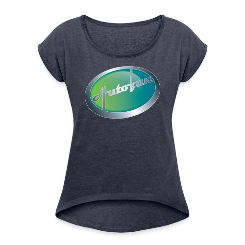 Autofan groen - Vrouwen T-shirt met opgerolde mouwen