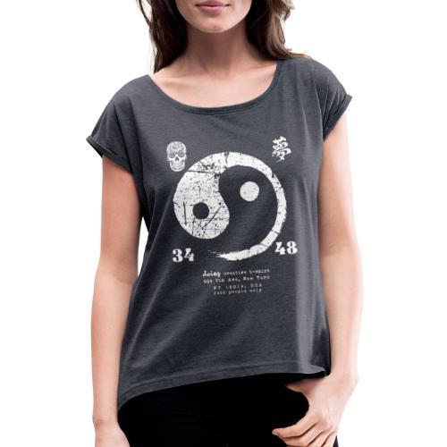 yin yang - Maglietta da donna con risvolti
