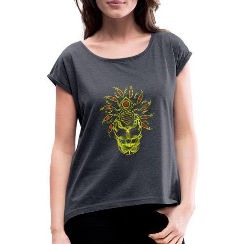 Evolve / Couleur - T-shirt à manches retroussées Femme