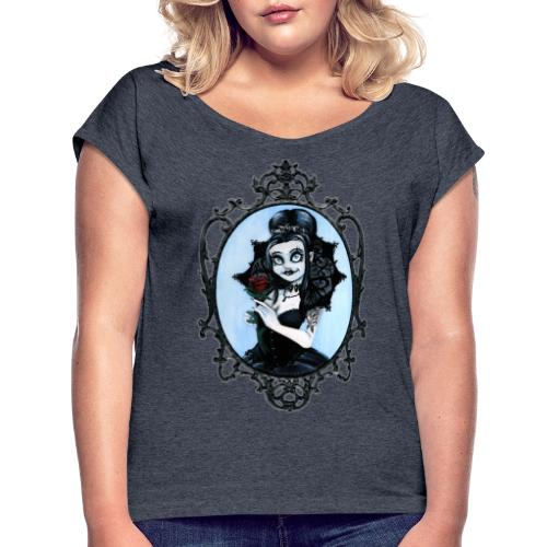 Model of the Year 2020 Lilith LaVey - Women's T-Shirt with rolled up sleeves