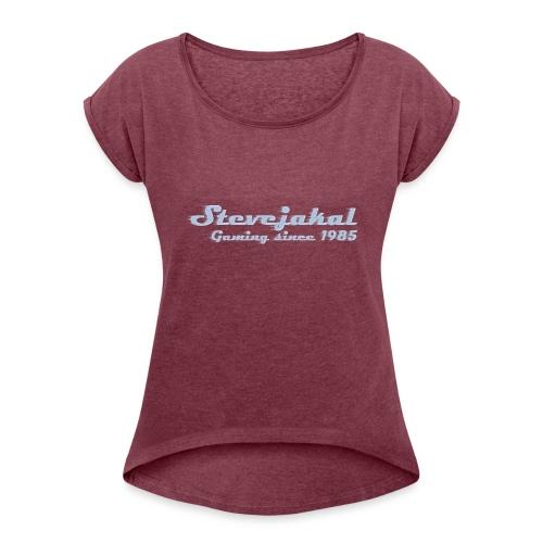 Stevejakal Merchandise - Frauen T-Shirt mit gerollten Ärmeln