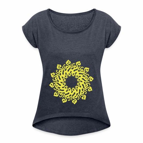 Mandala SOHAM - Frauen T-Shirt mit gerollten Ärmeln