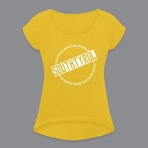 SouthTyrol Kreis weiß - Frauen T-Shirt mit gerollten Ärmeln