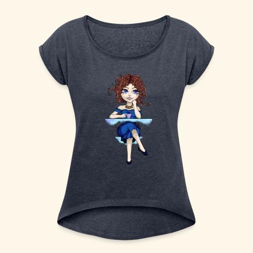 Blue Lady - T-shirt à manches retroussées Femme