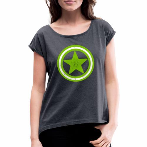 Vegan Vegetarier Lifestyle Shirt T-Shirt Geschenk - Frauen T-Shirt mit gerollten Ärmeln