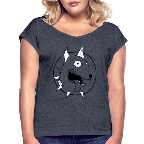 chien fou - T-shirt à manches retroussées Femme