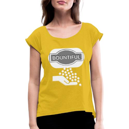 Bontiul gray white - Women's T-Shirt with rolled up sleeves