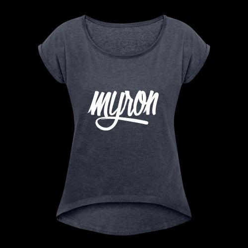 Myron - Vrouwen T-shirt met opgerolde mouwen