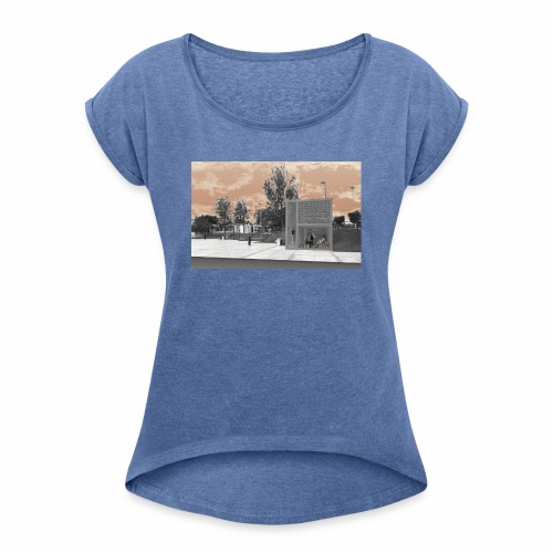 Arquitectura cambiada de lugar - Camiseta con manga enrollada mujer
