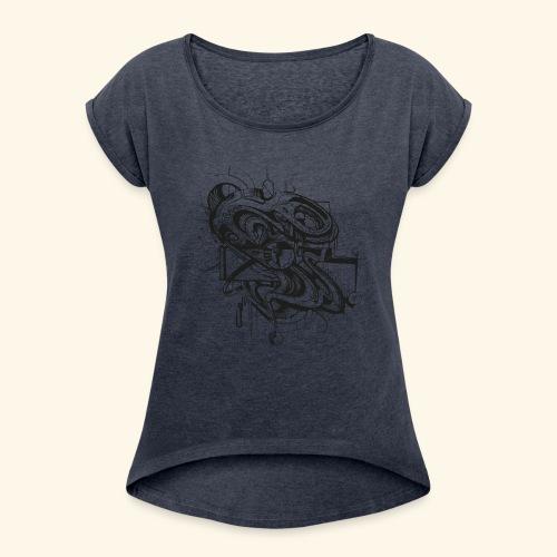 Unruhe by buks.one - Frauen T-Shirt mit gerollten Ärmeln