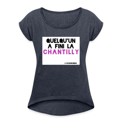 Chantilly - T-shirt à manches retroussées Femme