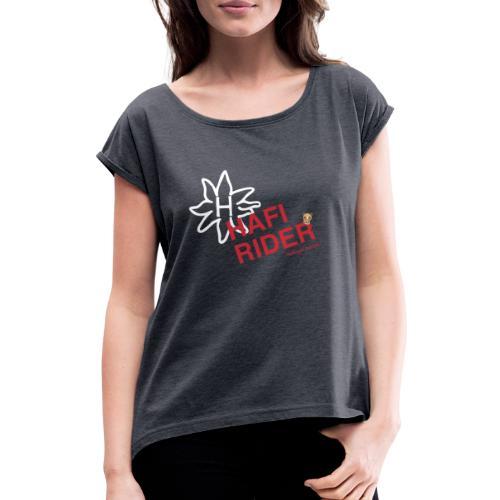 Hafi-Rider / Haflinger / Pferd / Pony - Frauen T-Shirt mit gerollten Ärmeln