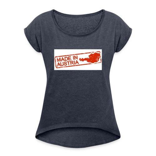 65186766 s - Frauen T-Shirt mit gerollten Ärmeln