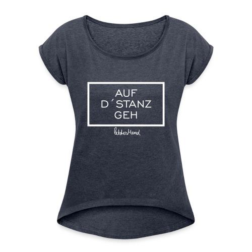 RICHTIG - Frauen T-Shirt mit gerollten Ärmeln