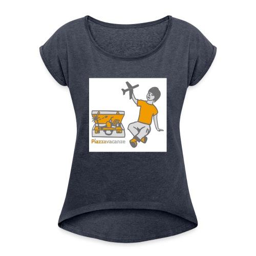 Piazzavacanze logo - Maglietta da donna con risvolti