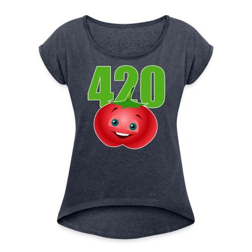 Tomate 420 - Frauen T-Shirt mit gerollten Ärmeln