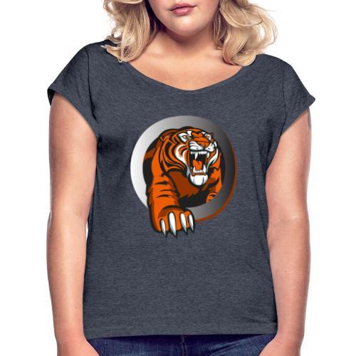 tiikeri - Naisten T-paita, jossa rullatut hihat
