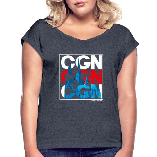 CGN x3 - Frauen T-Shirt mit gerollten Ärmeln