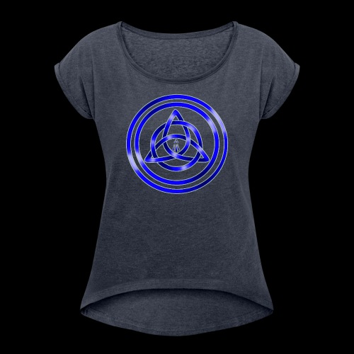 Awen Triqueta - Women's T-Shirt with rolled up sleeves
