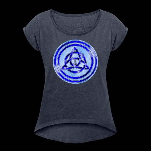 Awen Triqueta Circle - Women's T-Shirt with rolled up sleeves