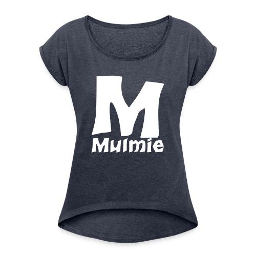Mmulmie white png - Vrouwen T-shirt met opgerolde mouwen