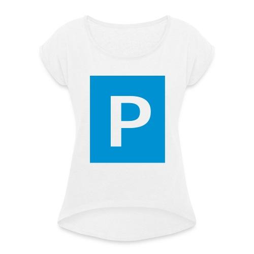 parken - Frauen T-Shirt mit gerollten Ärmeln