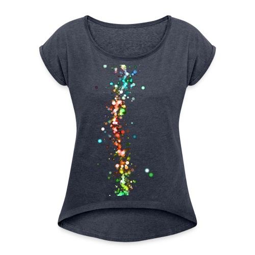 wzorek_01 - Koszulka damska z lekko podwiniętymi rękawami