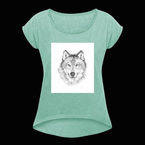 Wolf - Dame T-shirt med rulleærmer