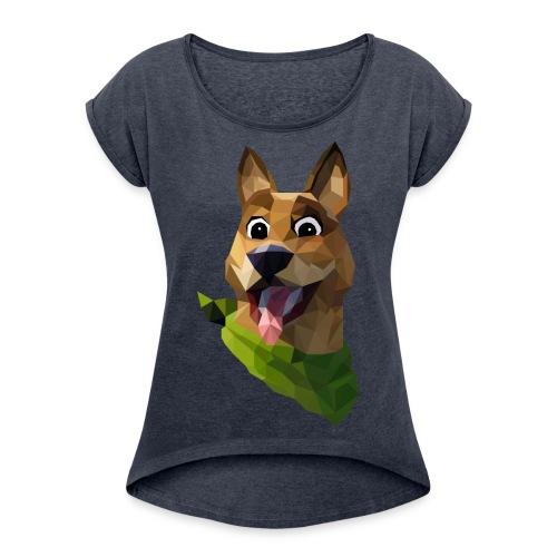 LOW POLY DOGO - T-shirt à manches retroussées Femme