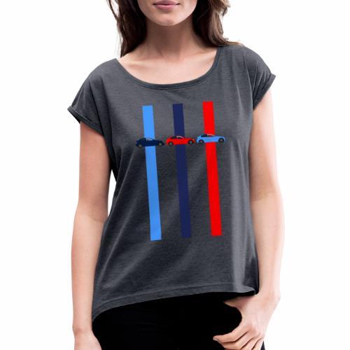 Tricolor E46 Compacts - Frauen T-Shirt mit gerollten Ärmeln
