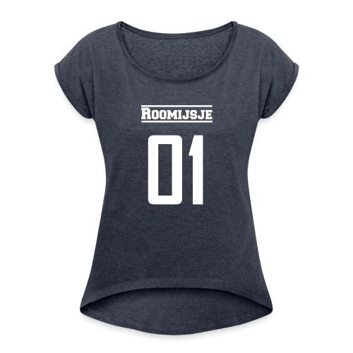 Roomijsje 01 woman/man sweater - Vrouwen T-shirt met opgerolde mouwen