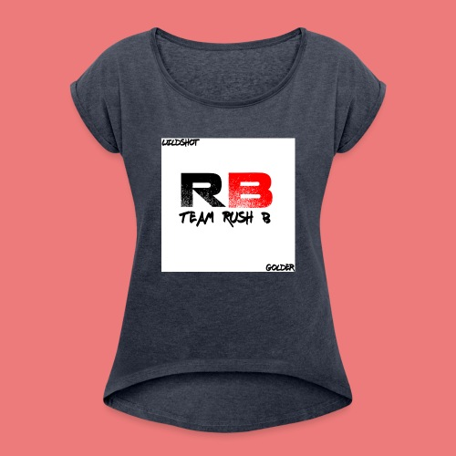 trb logo wildshot - Women's T-Shirt with rolled up sleeves
