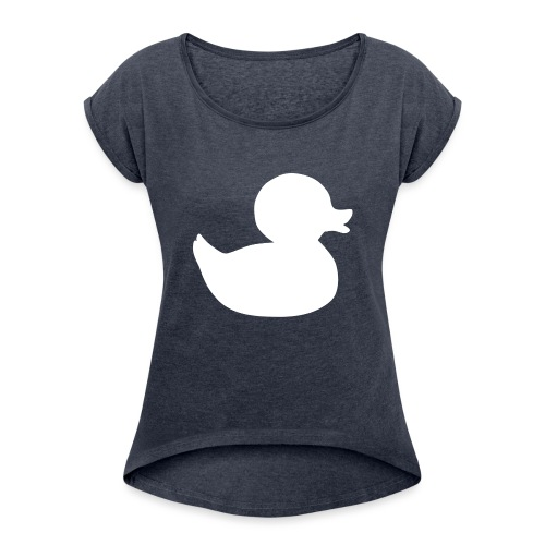 First duck tee - Women's T-Shirt with rolled up sleeves