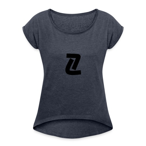 ProfilEU - Frauen T-Shirt mit gerollten Ärmeln