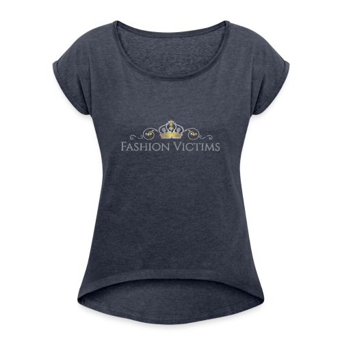 Official Fashion Victims Logo Gold/Silver - Vrouwen T-shirt met opgerolde mouwen