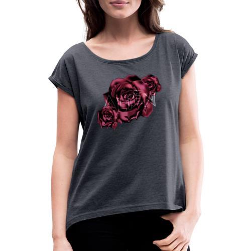 Rose Guardian Small - T-skjorte med rulleermer for kvinner
