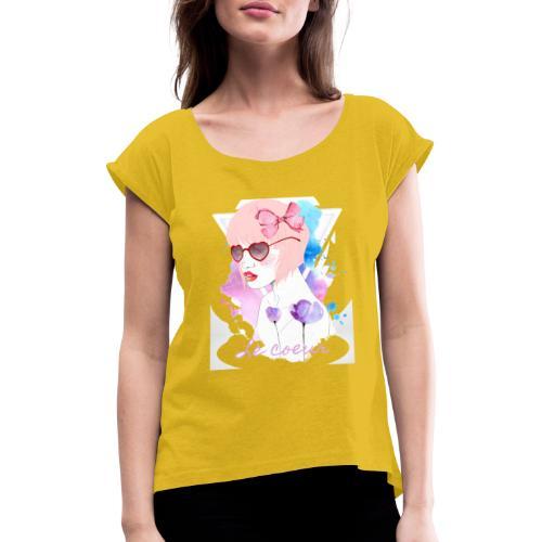 Le coeur - T-shirt à manches retroussées Femme
