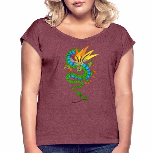 Baldrian - Frauen T-Shirt mit gerollten Ärmeln