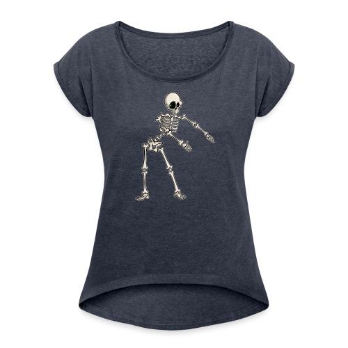 Floss like a Boss - Frauen T-Shirt mit gerollten Ärmeln